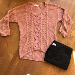 Pink rose premium small coral sweater